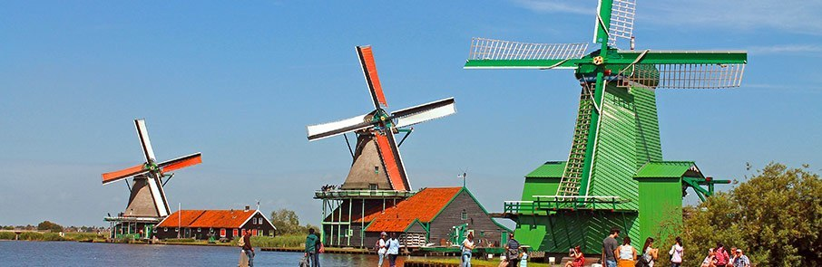 See mills from all over North Holland at the Zaanse Schans